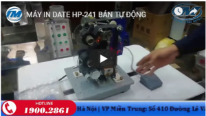 Video: Máy in date HP-241 bán tự động